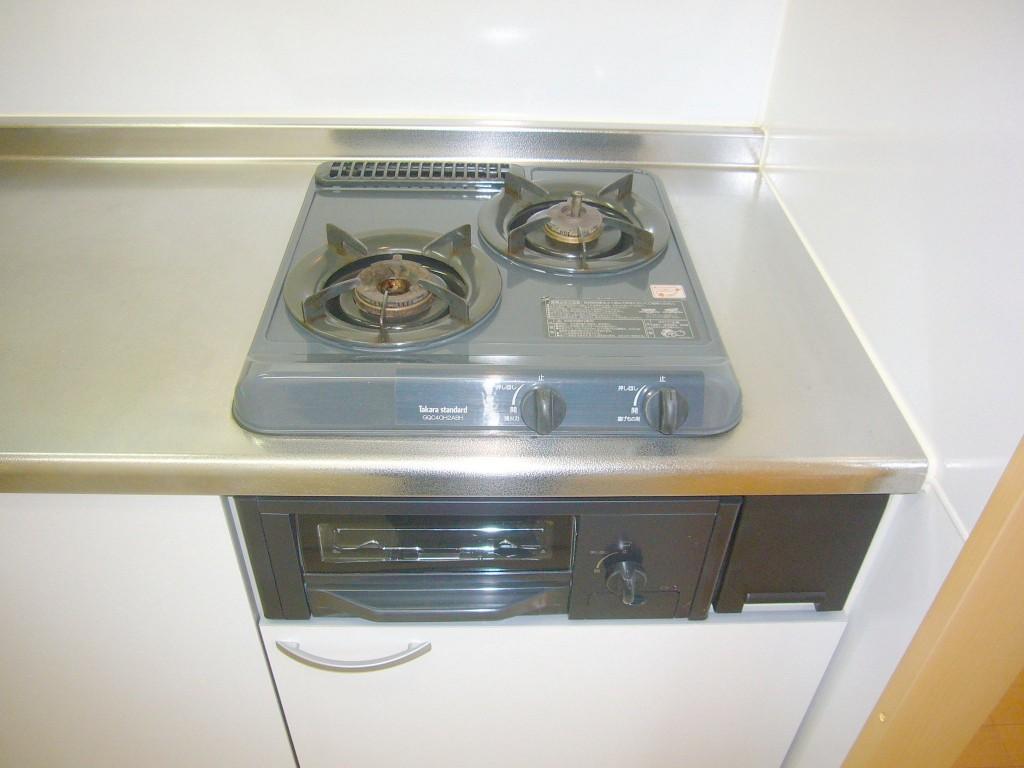 2口ガスコンロ付き(キッチン)