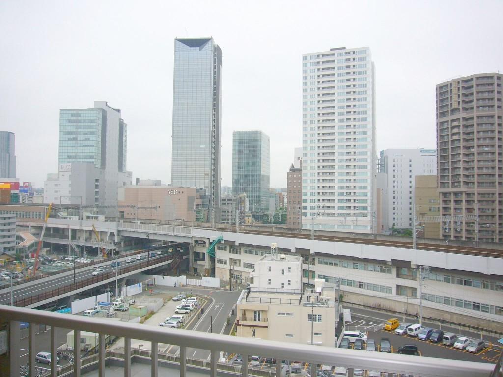 10階からの西側眺望・仙台駅がすぐ近くです