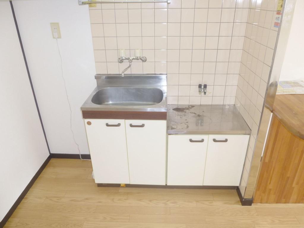 キッチン・2口ガスコンロ設置可。(キッチン)